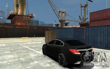 Opel Insignia OPC BETA para GTA 4 traseira esquerda vista