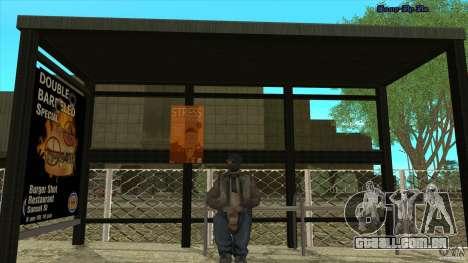 Paragens de autocarro em HD para GTA San Andreas terceira tela
