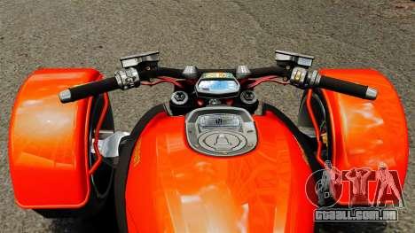 Ducati Diavel Reversetrike para GTA 4 vista direita