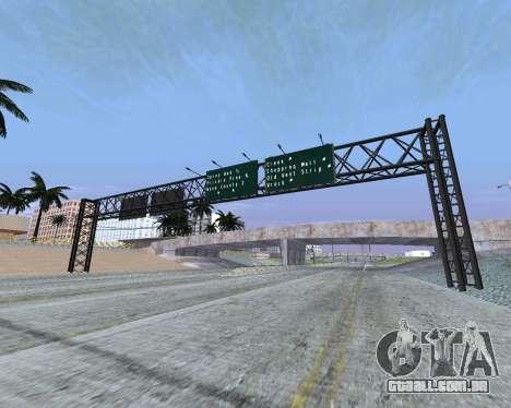 Estrada sinais v 1.2 para GTA San Andreas