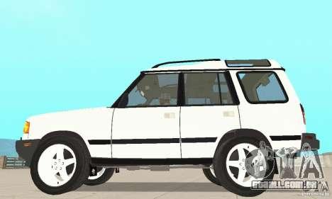 Land Rover Discovery 2 para GTA San Andreas traseira esquerda vista