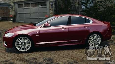 Jaguar XFR 2010 v2.0 para GTA 4 esquerda vista