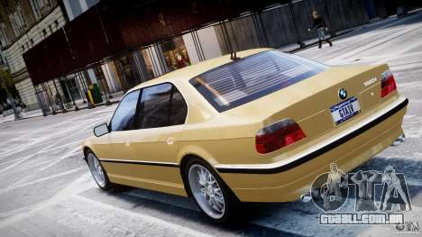 BMW 750i v1.5 para GTA 4 vista superior