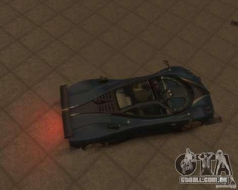 Pagani Zonda Tricolore para GTA 4 vista de volta