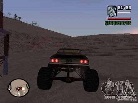 Monster Tampa para GTA San Andreas traseira esquerda vista