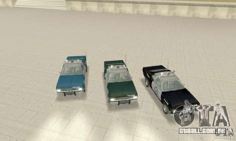Plymouth Duster 340 Police para GTA San Andreas vista interior