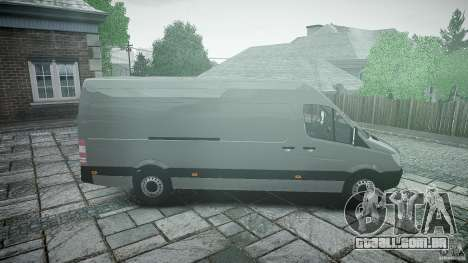 Mercedes Benz Sprinter Long Version para GTA 4 vista interior