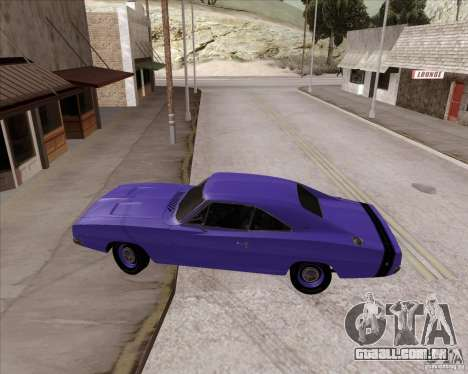 Dodge Charger RT 440 1968 para GTA San Andreas vista direita