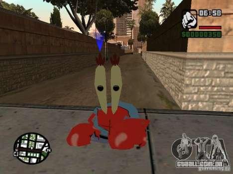 O Sr. Siriguejo para GTA San Andreas terceira tela
