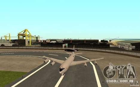 Boeing E-3 Sentry para GTA San Andreas vista traseira