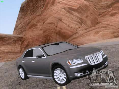 Chrysler 300 Limited 2013 para GTA San Andreas vista superior