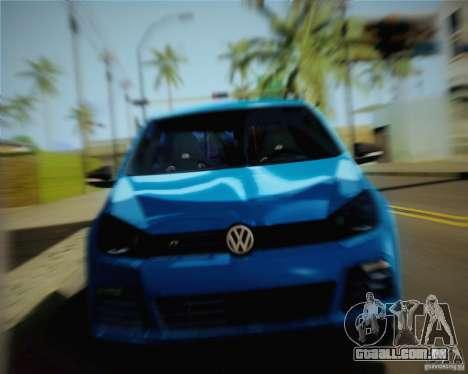 Volkswagen Golf R 2010 para GTA San Andreas traseira esquerda vista