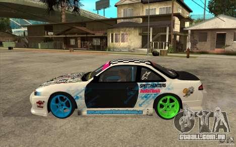 Nissan Silvia S14 Drift Bomb para GTA San Andreas esquerda vista