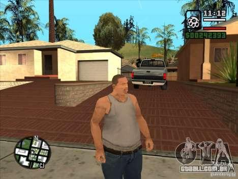 Cj branco para GTA San Andreas por diante tela