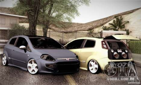 Fiat Punto Evo 2010 Edit para vista lateral GTA San Andreas