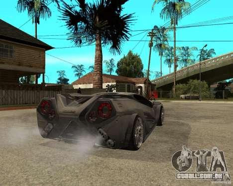 Nemixis para GTA San Andreas traseira esquerda vista
