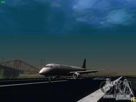 Embraer ERJ 190 Lufthansa Regional para GTA San Andreas esquerda vista