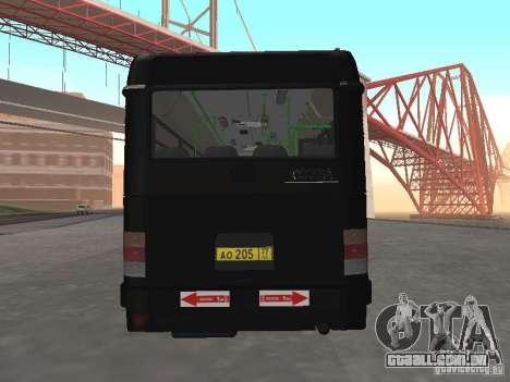 Autocarros 6222 para GTA San Andreas vista direita