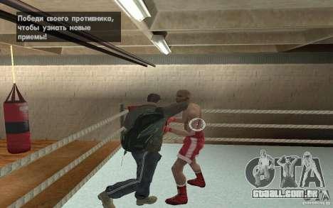 O sistema de luta do GTA IV V 3.0 para GTA San Andreas segunda tela