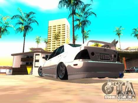 Toyota Altezza HKS para GTA San Andreas vista direita