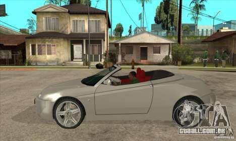 Alfa Romeo Spyder para GTA San Andreas esquerda vista