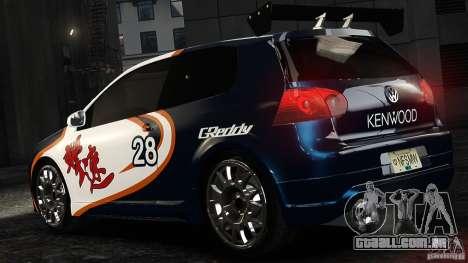 Volkswagen Golf V GTI Blacklist 15 Sonny v1.0 para GTA 4 esquerda vista