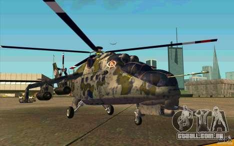 Mi-24 para GTA San Andreas esquerda vista