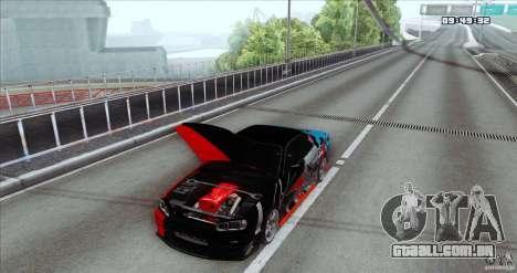 Nissan Skyline R34 Evil Empire para GTA San Andreas traseira esquerda vista