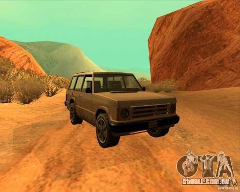 Huntley 1987 San Andreas Stories para GTA San Andreas traseira esquerda vista