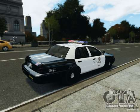 Ford Crown Victoria LAPD para GTA 4 traseira esquerda vista