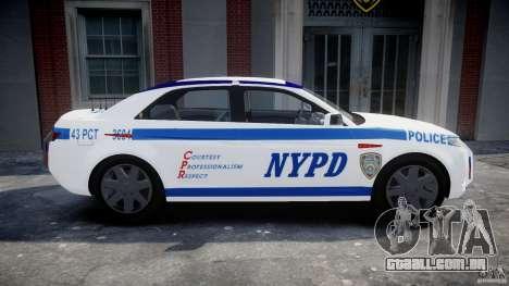 Carbon Motors E7 Concept Interceptor NYPD [ELS] para GTA 4 esquerda vista
