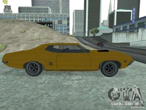 Ford Torino 70 para GTA San Andreas traseira esquerda vista