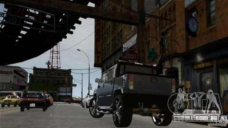 Hummer H2 SUT para GTA 4 traseira esquerda vista