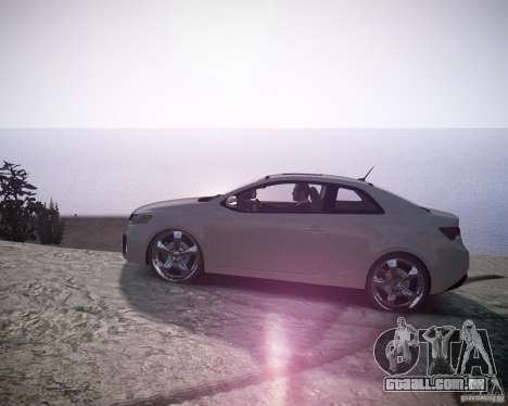 Kia Cerato Koup 2011 para GTA 4 esquerda vista