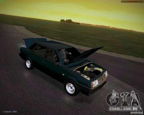 Drenar VAZ 21099 para GTA San Andreas vista traseira