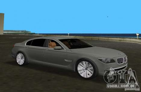 BMW 750 Li para GTA Vice City deixou vista