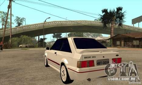 Ford Escort XR3 1992 para GTA San Andreas