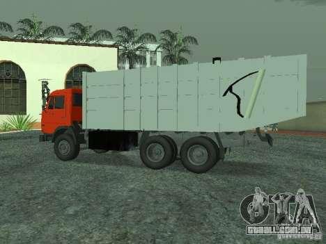 Caminhão de lixo 53215 KAMAZ para GTA San Andreas esquerda vista