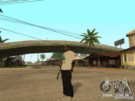 T-shirt com grama para GTA San Andreas segunda tela