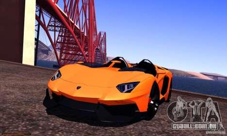 Lamborghini Aventador J para vista lateral GTA San Andreas