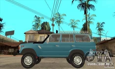 Toyota Land Cruiser para GTA San Andreas esquerda vista