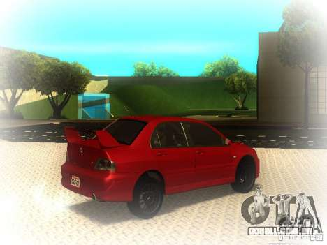 Mitsubishi Lancer Evolution IX MR 2006 para GTA San Andreas vista direita