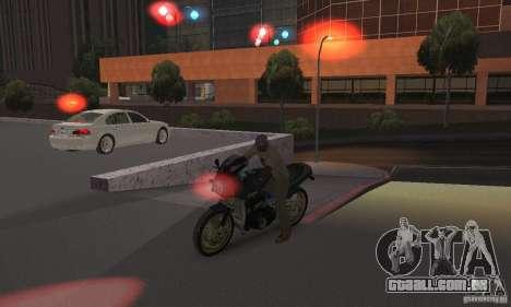 Luzes vermelhas para GTA San Andreas por diante tela