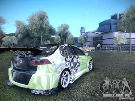 Mitsubishi Lancer Evolution X - Tuning para GTA San Andreas traseira esquerda vista