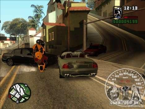 Spyder Cambriocorsa para GTA San Andreas vista interior