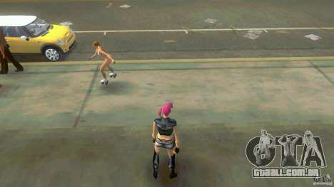 Girl Player mit 11skins para GTA Vice City por diante tela