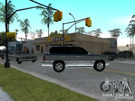 Toyota Land Cruiser 100 VX para GTA San Andreas vista direita