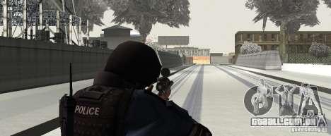 Rifle de GTA IV para GTA San Andreas por diante tela