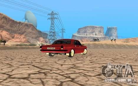 Volga GAZ 24 para GTA San Andreas esquerda vista