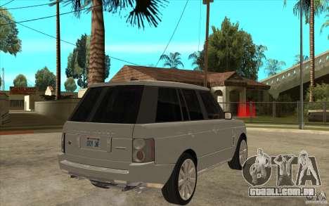 Land Rover Range Rover Supercharged 2009 para GTA San Andreas vista direita